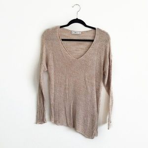 Zara Knit Asymmetrical Hem Sweater